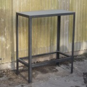 coffee table structure acier et béton à fleur