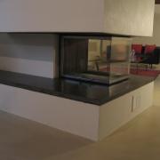 pourtour de cheminée a insert - Bernex 2008 - Bonhôte Zapata Architectes