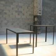 table en béton et métal -Genève 2006 - Atelier Form|c