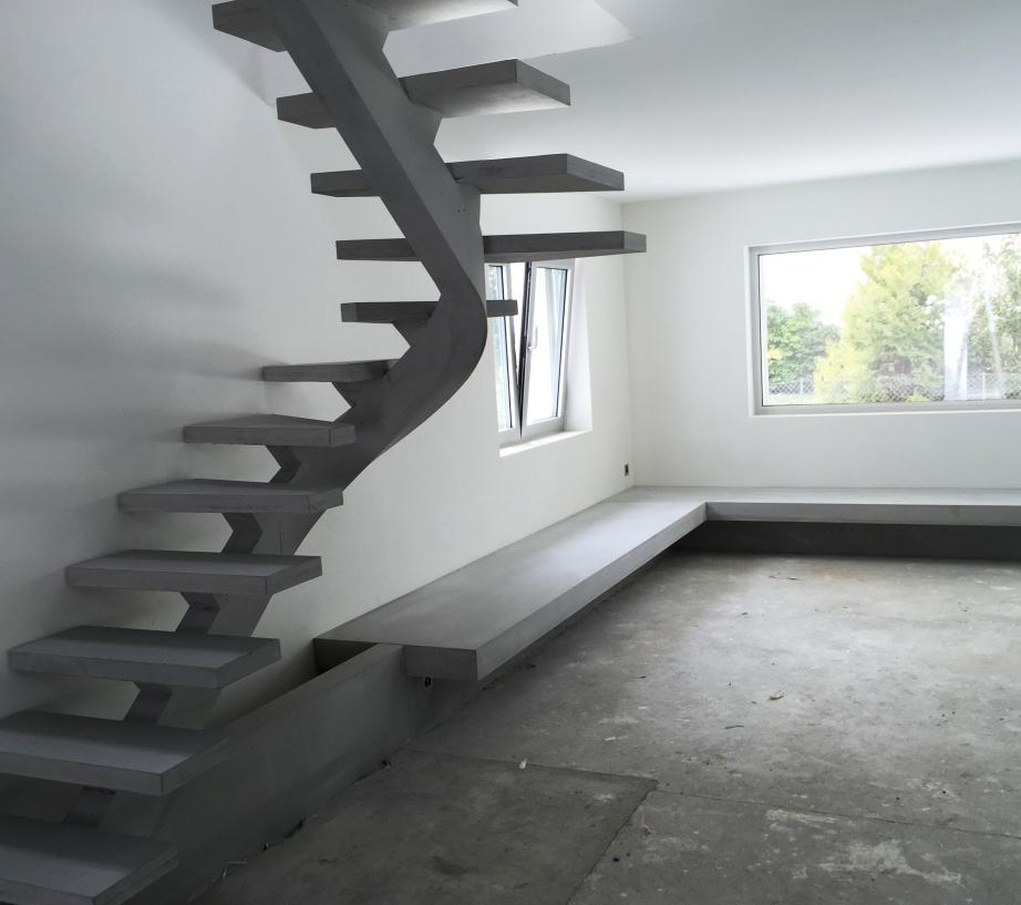 escalier et banquette